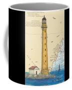 Boon Island Lighthouse Me Chart Art Cathy Peek Coffee Mug