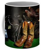 Boots And Bags Coffee Mug by Bob Hislop