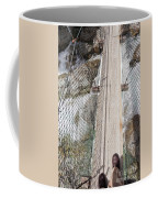 Boots On Narrow Swing Bridge Over White Water Coffee Mug