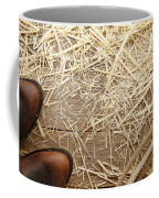 Boots On Wood Coffee Mug