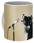 Border Collie Dog Singing Coffee Mug