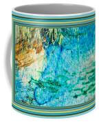 Borderized Abstract Ocean Print Coffee Mug
