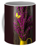 Boronia With Yellow Butterfly Coffee Mug