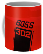 Boss 302 Emblem On A Car Coffee Mug