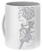 Boston And Bunker Hill 1781 Coffee Mug by American School