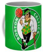 Boston Celtics Canvas Coffee Mug by Dan Sproul