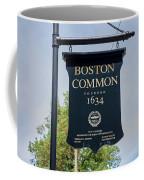 Boston Common Park Sign, Boston, Ma Coffee Mug
