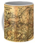 Boston Hoosac Tunnel And Western Railway Map 1881 Coffee Mug