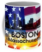 Boston Ma Patriotic Large Cityscape Coffee Mug