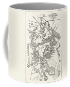 Boston: Map, 1775-1776 Coffee Mug