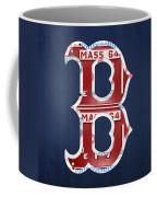 Boston Red Sox Logo Letter B Baseball Team Vintage License Plate Art Coffee Mug by Design Turnpike