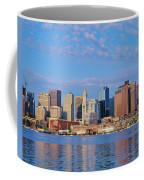 Boston Skyline And Harbor, Massachusetts Coffee Mug