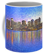 Boston Skyline By Night Coffee Mug
