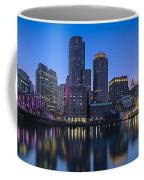 Boston Skyline Seaport District Coffee Mug