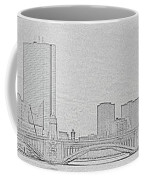 Boston Skyline Stencil Coffee Mug