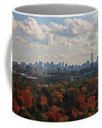 Boston Skyline View From Mt Auburn Cemetery Coffee Mug