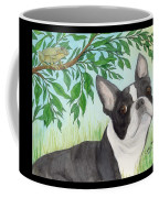 Boston Terrier Dog Tree Frog Cathy Peek Art Coffee Mug