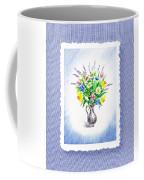 Botanical Impressionism Watercolor Bouquet Coffee Mug
