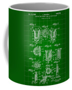 Bottle Cap Patent 1892 - Green Coffee Mug