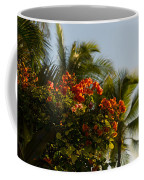 Bougainvilleas And Palm Trees Swaying In The Wind In Waikiki Honolulu Hawaii Coffee Mug