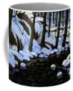 Boulder Brook In Winter Coffee Mug