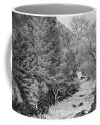 Boulder Creek Winter Wonderland Black And White Coffee Mug