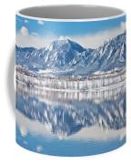 Boulder Reservoir Flatirons Reflections Boulder Colorado Coffee Mug