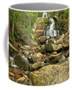 Boulders Logs And Lower Laurel Falls Coffee Mug