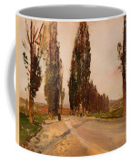 Boulevard Of Poplars Near Plankenberg Coffee Mug