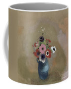 Bouquet Of Anemones Coffee Mug by Odilon Redon