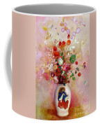 Bouquet Of Flowers In A Japanese Vase Coffee Mug by Odilon Redon