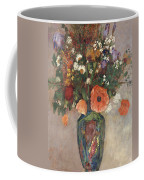 Bouquet Of Flowers In A Vase Coffee Mug by Odilon Redon