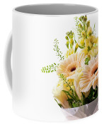 Bouquet Of Flowers On White Background Coffee Mug