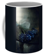 Bouquet Of Grape Hyiacints On The Dark Textured Surface Coffee Mug