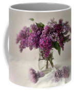 Bouquet Of Lilacs In A Glass Pot Coffee Mug