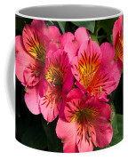 Bouquet Of Pink Lily Flowers Coffee Mug