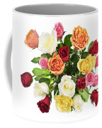 Bouquet Of Roses From Above Coffee Mug