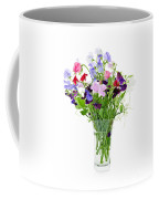 Bouquet Of Sweet Pea Flowers Coffee Mug