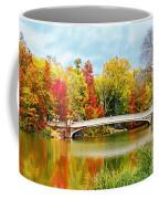 Bow Bridge Autumn In Central Park  Coffee Mug