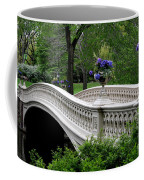Bow Bridge Flower Pots - Central Park N Y C Coffee Mug