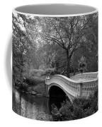 Bow Bridge Nyc In Black And White Coffee Mug
