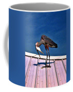 Bowing Blue Heron Coffee Mug