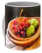 Bowl Of Red Grapes And Pears Coffee Mug by Susan Savad