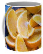 Bowl Of Sliced Oranges Coffee Mug