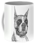 Boxer Dog Sketch Coffee Mug