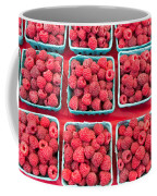 Boxes Of Fresh Red Raspberries Coffee Mug