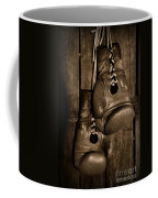 Boxing Gloves  Black And White Coffee Mug by Paul Ward