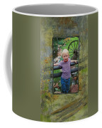Boy By Fence Coffee Mug