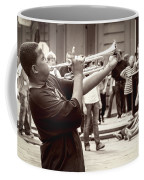 Boy On A Trumpet In Nola Coffee Mug