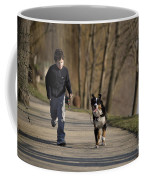 Boy Running With Dog Coffee Mug